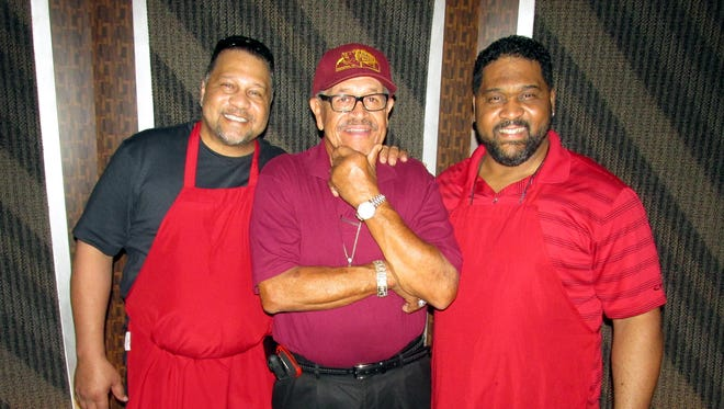 Mark Neely (right) with brother Tony Neely (left) and uncle Jim Neely (center).