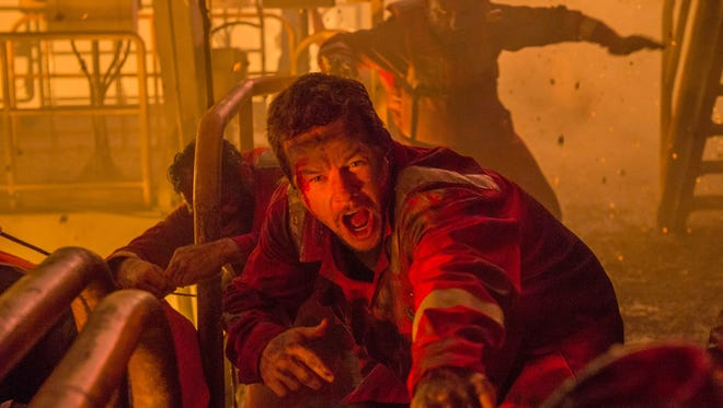 "Mark Wahlberg has a rough day at the office in ""Deepwater Horizon."""