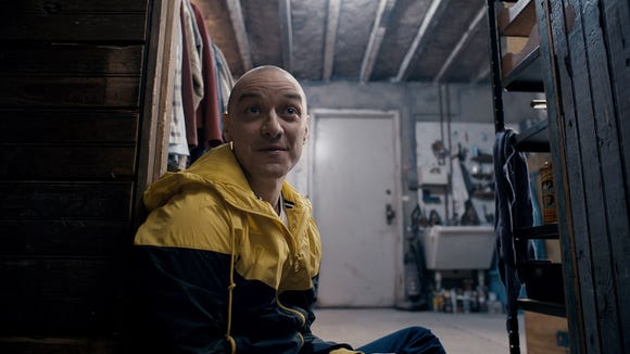 "Little Hedwig is one of the many personas of Kevin (James McAvoy) in ""Split."""