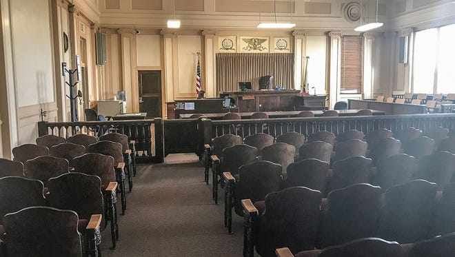 The courtroom of Judge L. Brooks Anderholt at Imperial County Superior Court in El Centro, seen on July 12, 2018.