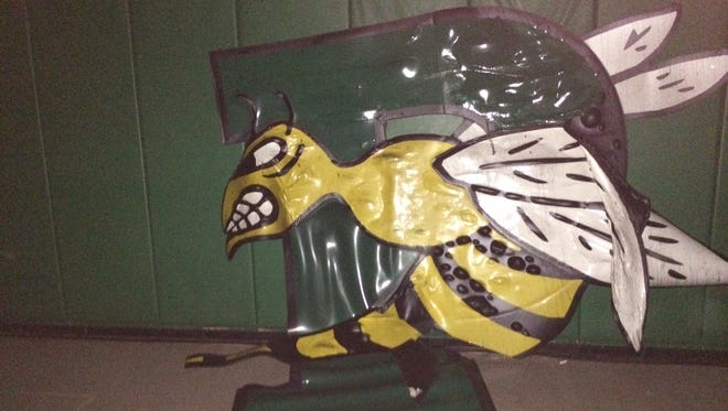 Fire damage at Green Bay Preble High School, Aug. 10, 2014.