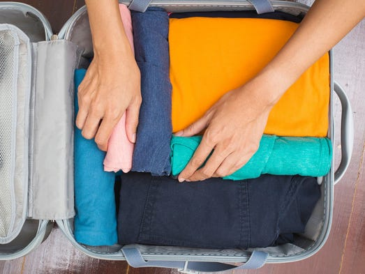 How to fit more in your suitcase: 1. Cube it. Luggage