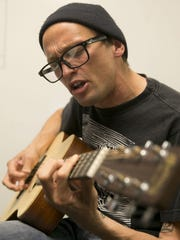 """Mikey Erg performs for the """"Fan Theory"""" podcast at the Asbury Park Press on May 23."""