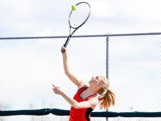 sports prep local roundup card tennis team drops match