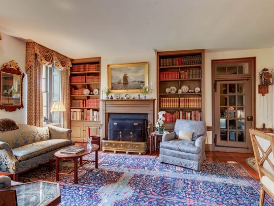In addition to heart of pine flooring, Crooked Billett features numerous built-in cabinets and bookshelves.