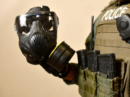 Gas mask used by Great Falls Police Department High
