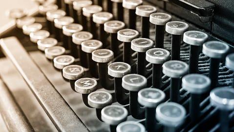 Antique Typewriter Vintage object Background