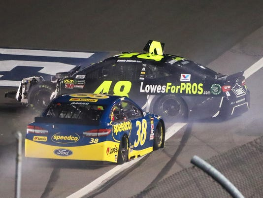 Jimmie Johnson crash