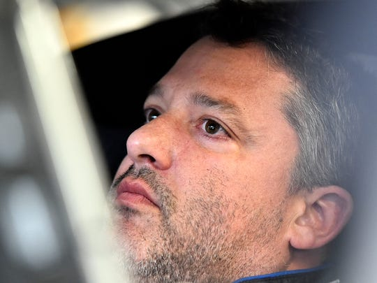 Tony Stewart during practice at the New Hampshire Motor Speedway in July.