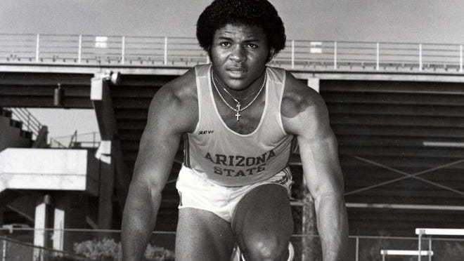 Ron Brown. who ran track and played football at Arizona State, was part of the U.S. gold-medal 4x100 relay team in the 1984 Los Angeles Olympics.