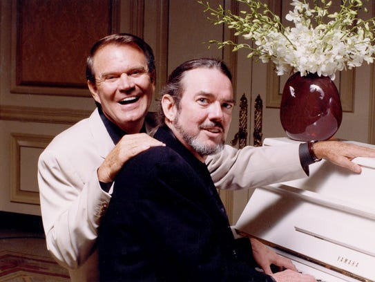 Glen Campbell with Jimmy Webb, who wrote many of Glen's