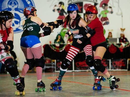 Cherry City Roller Derby hosts Wreck the Halls holiday-themed derby bout on Dec. 10.