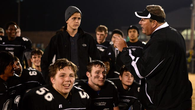Robbinsville football coach Dee Walsh and the Black Knights (16-0) won the NCHSAA 1-A championship earlier this month in Raleigh.