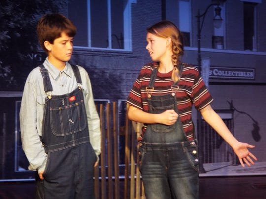 "Jem Finch (Lorcan McGovern of Long Valley) and his sister, Scout (Catie O'Neill of Parsippany) in the Pax Amicus Castle Theatre production of ""To Kill a Mockingbird."""