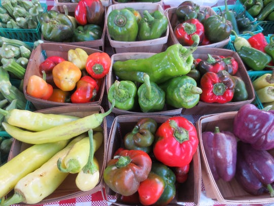 In season this fall, peppers of all varieties, found