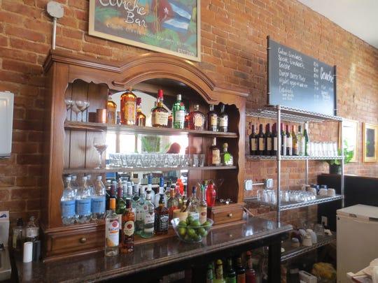 A look behind the bar at Ceviche Bar.