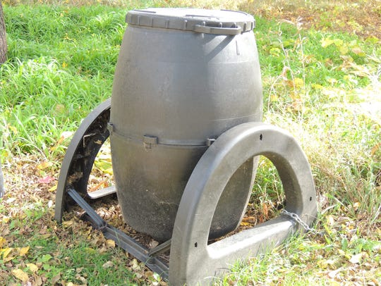 Purchased compost bins for home use come in many shapes,