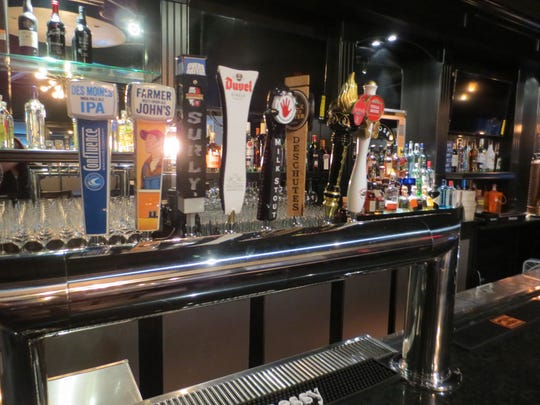 The beer taps at Prime Land & Sea Food