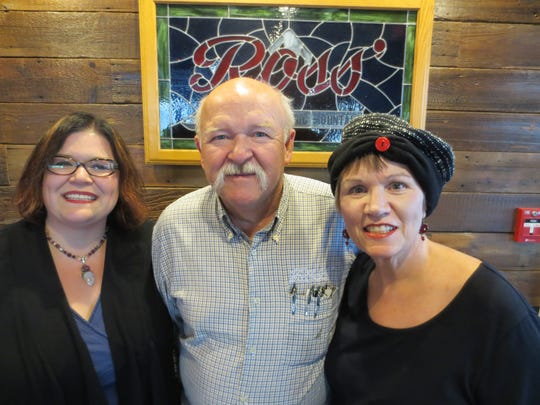 Melissa Friedhof-Rodgers, Ron Freidhof and Cynthia Ross-Friedhof at Ross' Restaurant, which just moved into new space in Bettendorf after 75 years.