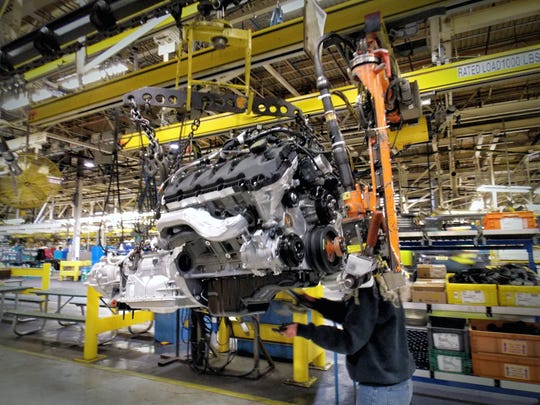 Production of the 2016 Ford F-150 full-size pickup