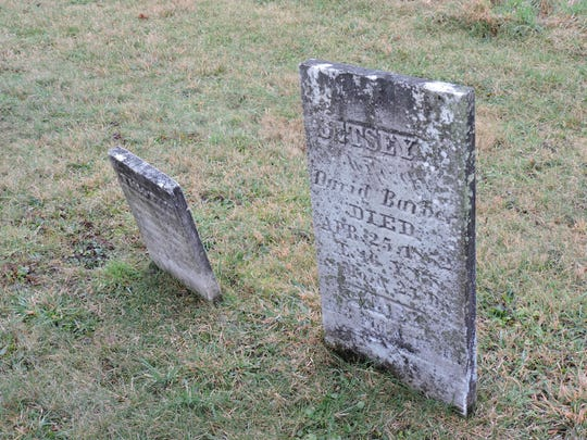 The gravestones of Betsey Barber, her daughter Mary