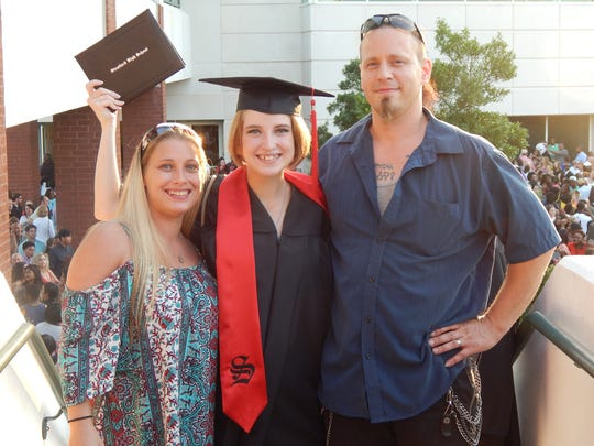 Melissa and Tony Christopher celebrate the high school graduation of their oldest daughter, Cayla Cairo, in South Carolina.