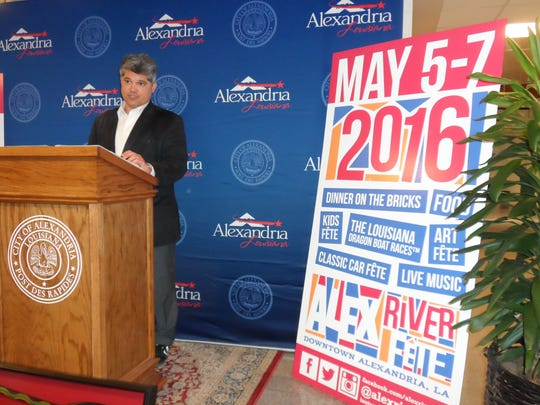 Alexandria Mayor Jacques Roy thanks individuals and organizations involved in helping make the Alex RiverFete successful.