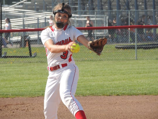 Bucyrus senior Toni Zeigler pitched 10 innings, striking out 18 batters in Monday evening's loss to Upper Sandusky.