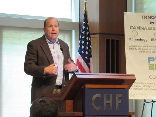 State Sen. Daylin Leach speaks to the audience at the