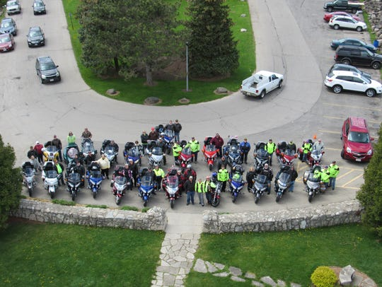 Members of the Gold Wing Road Riders Association Chapter