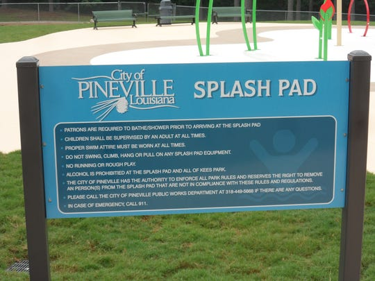 The city of Pineville's new splash pad is open from 9 a.m. to 8 p.m. seven days a week.