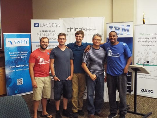 Antoine Patton, far right, was part of the winning team at last year's hackathon.