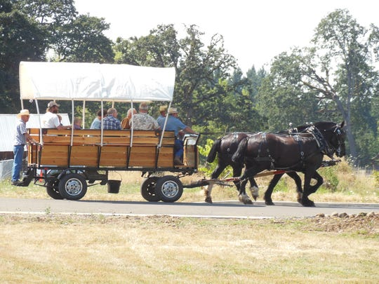 Covered wagon rides were popular attractions at previous Historic Silver Falls Day events.