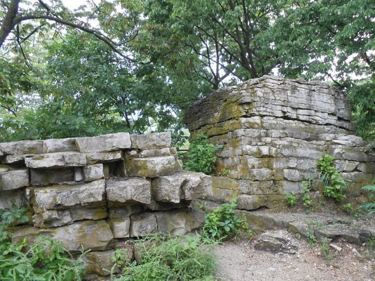 Remnants of the Niagra Escarpment at High Cliff State Park in Sherwood, Wisconsin