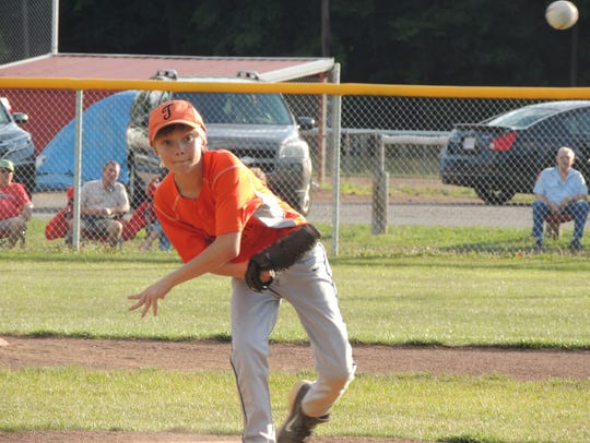 Leyton Appleby was the winning pitcher for Team Timken