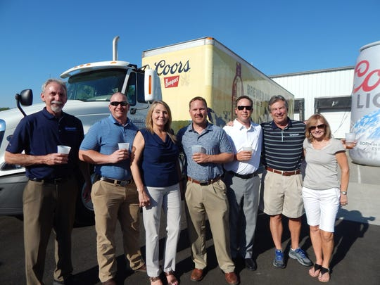 High Country Beverage's management team, from left: Ron Terrin, Nick Kelly, Chris Galbate, Bryce Kopperud, Steve Nichols, Dave Nichols and Katie Nichols.