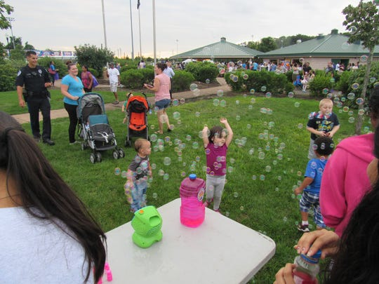 South Brunswick police and members of the community joined together Tuesday for National Night Out.