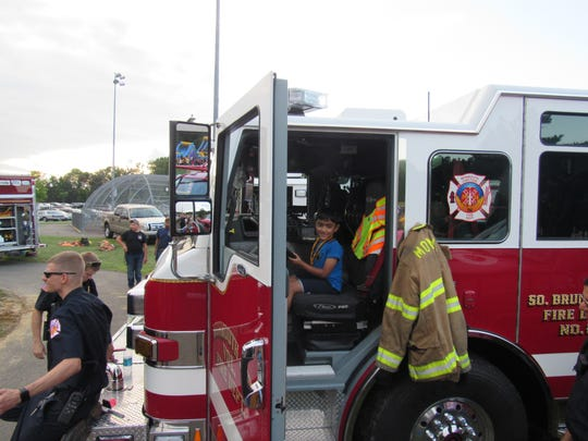 Township firefighters also participated in this year's National Night Out in South Brunswick on Tuesday.