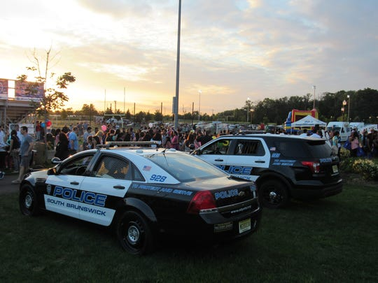 A record-breaking crowd showed up for this year's National Night Out in the township on Tuesday.