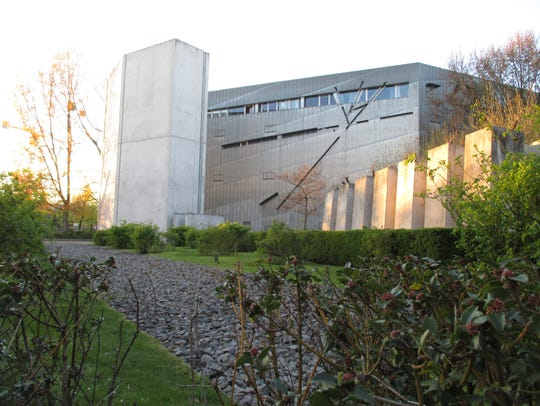A side view of the zinc-clad Jewish Museum, evoking