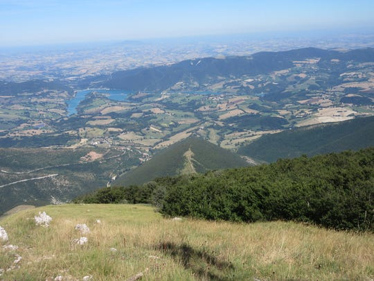 A view from the top of Italy's Monte San Vicino with