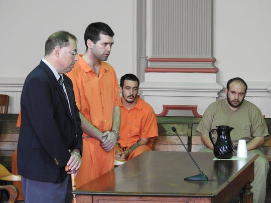 Kyle Grimes, 29, of Zanesville, was sentenced to five years in prison for felonious assault after he and his father used brass knuckles to attack another person.