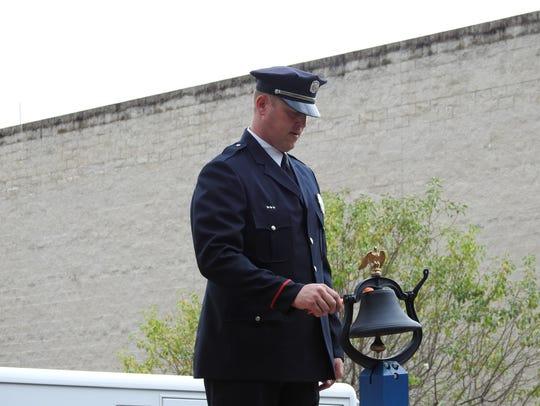 """Coshocton Firefighter Brian Stittler strikes """"four"""