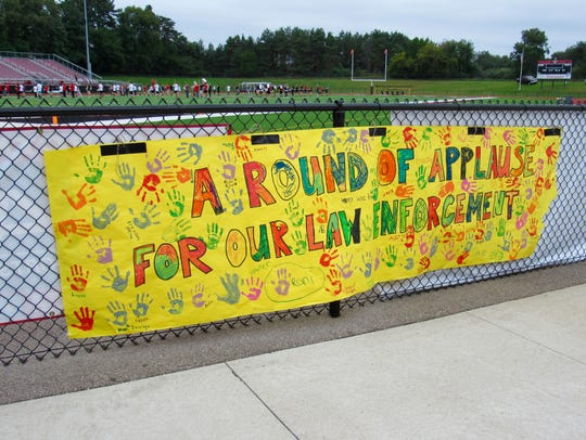 A sign the PHS girls soccer team made dedicated to