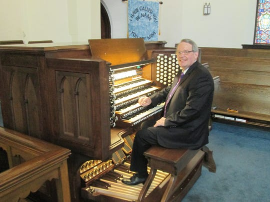 Bob Eyer Jr. has been at the keyboard of Trinity Evangelical Lutheran Church's Moller organ for 40 years.