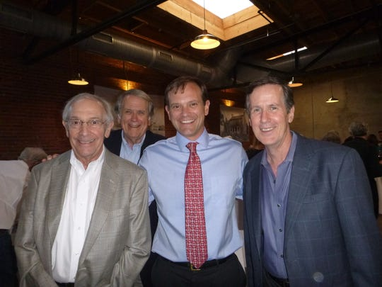 At the Scruffy City Soirée are Dick Goldstine, Duane Grieve, Marshall Stair and John Craig.