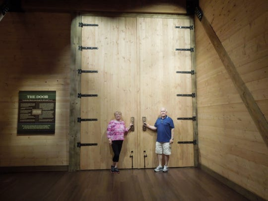 It is the largest timber frame structure in the world, three decks of exhibits. At 510 feet long, 85 feet wide and 51 feet high, Jim and Jeri Wilson described the Ark as massive.