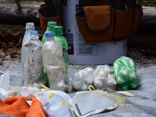 Materials related to meth production found at a Two Rivers residence on Oct. 25.
