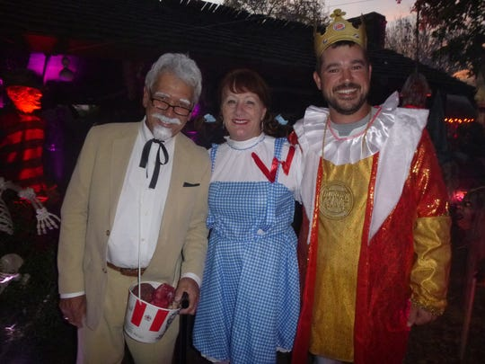 James White's Fort board members represent three food groups – Rick Russell as Colonel Sanders, Cathy Coe as Wendy and Jonathan Newberry as Burger King.