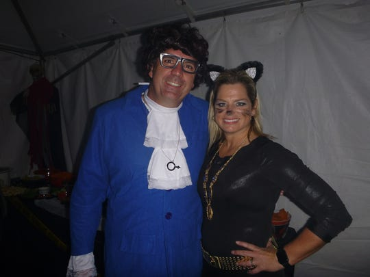 Monster Ball co-chairs Mike Charland and Dana Pumariega at the fundraiser for Harmony Family Center.